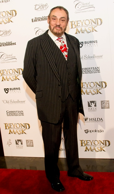 Actor John Rhys-Davies at the Detroit red-carpet premiere of BEYOND THE MASK – a Revolutionary War-era family adventure film in theaters on June 5, 2015. Photo: VeLoie Alling